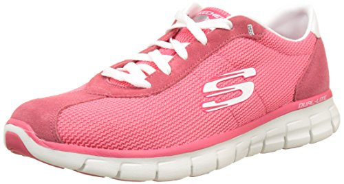 Skechers-Synergy-Case-Closed-Scarpe-Running-Donna-Rosa-Pink-36-EU
