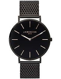 LIEBESKIND BERLIN Unisex Erwachsene Analog Quarz Uhr mit Edelstahl Armband LT-0156-MQ