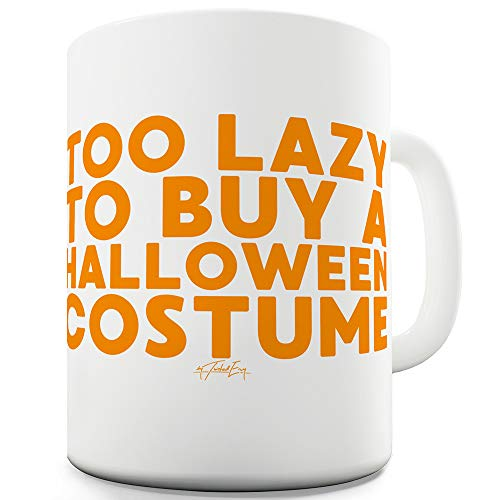 TWISTED ENVY Too Lazy to Buy A Halloween-Kostüm, Keramik, Geschenkidee, Keramik, weiß, 15 ()