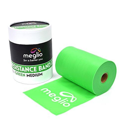 MEGLIO latexfreies Widerstandsband - 23m Rolle - Fitnessband für Training, Physiotherapie, Rehabilitation - extra-schwer, schwer, mittel, leicht, extra-leicht (Grum, 23m)