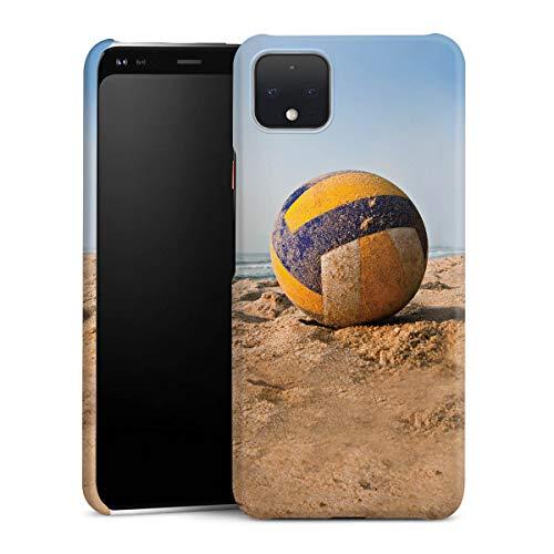 DeinDesign Premium Case kompatibel mit Google Pixel 4 XL Hülle Handyhülle Volleyball Sand Hobby