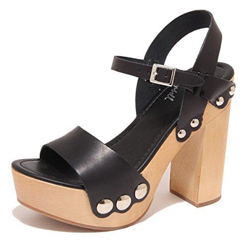 7965O scarpa donna JEFFREY CAMPBELL DAISY sandalo nero sandal shoe woman Nero