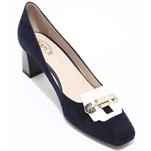 94207 decollete blu TOD'S GOMMA T55 SU scarpa donna shoes women Blu