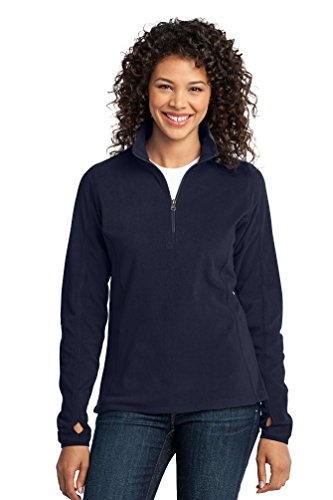 Port Authority Women's Microfleece 1/2 Zip Pullover L True Navy