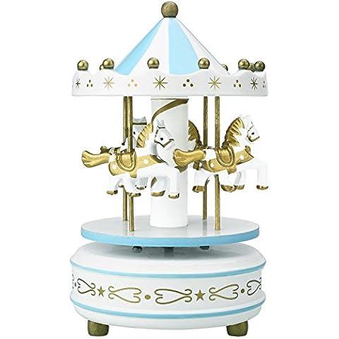 Peradix Carousel música caja madera Merry-Go-Round juguete