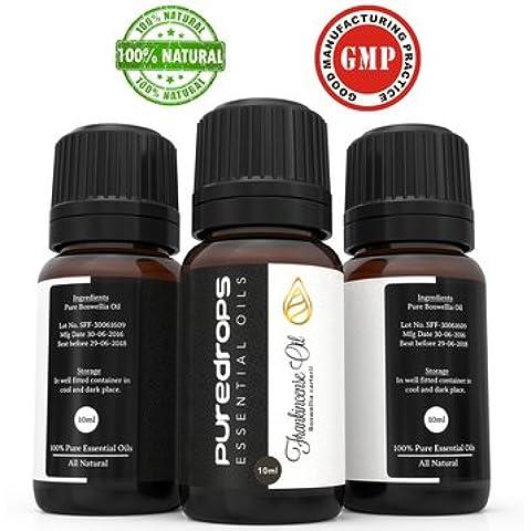 Pure gotas aceite esencial de incienso–100% natural y orgánico de alta calidad–totalmente terapéutico y difusor de aceites de grado farmacéutico–utilizar con o tópica–mejor para funda de piel, zurcir corta, eccema y la inflamación