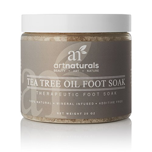 ArtNaturals Tea Tree Foot Soak - (20 Oz) - with Epsom Salt - Fights Athletes Foot, Anti-Fungal and Nail Fungus - Helps to Soften Calluses - 20 oz.
