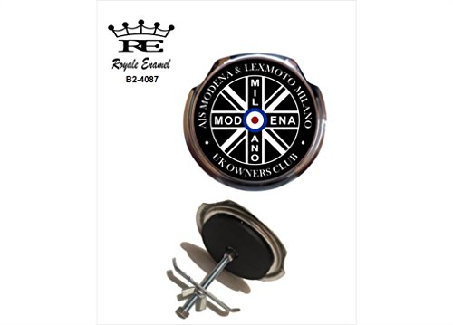Royale Emaille Royale Car Grill Badge-A.J.S. Modena Lexmoto Milano Eigentümer Club Großbritannien B2. 4087 -