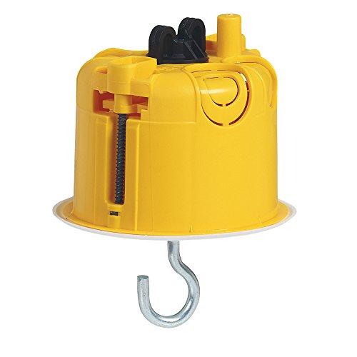 Legrand 090565 Boîte à encastrer Batibox pour luminaire avec couvercle, Jaune