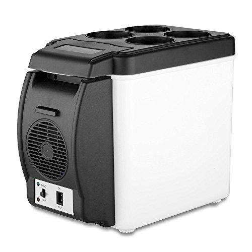 Maa Gaytri Sarees Mini Refrigerator Portable Fridge 12V 6L Auto Mini Car Travel Fridge ABS Multi-Function Cooler Freezer Warmer Cooling & Warming Refrigerator