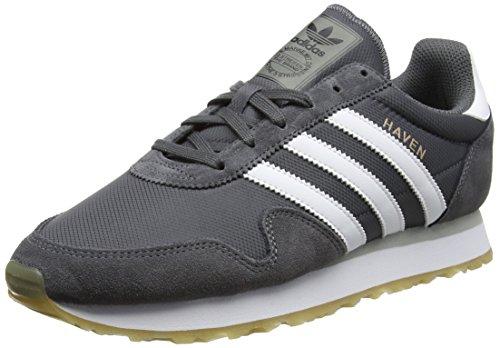 adidas Unisex-Erwachsene Haven Sneakers, Grau (Grey Five/Footwear White/Gum), 44 EU (Originals Schuhe Adidas)