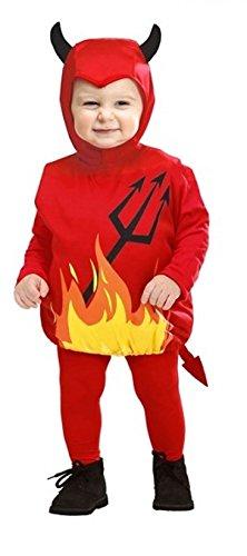 Novità vestiti carnevale travestimento maschera cosplay halloween gioco personaggio film demone diavolo costume e copricapo horror bimbo bimba taglia unica anni 1 3 anni colore rosso