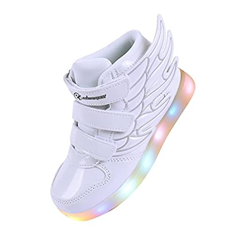LED Chaussures,Angin-Tech Ange Série Led Chaussure 7 Couleurs USB Rechargeable
