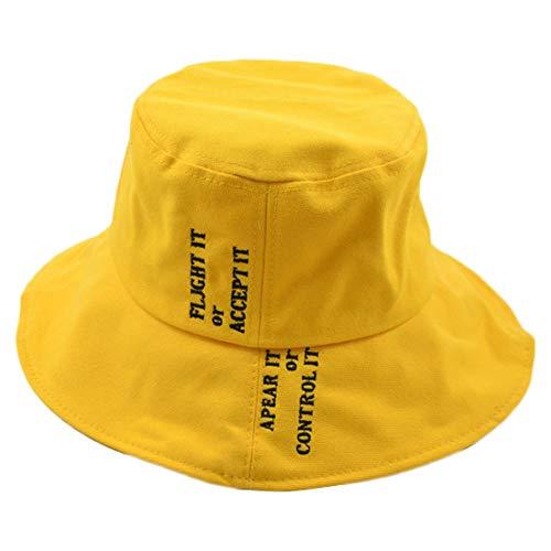 rauen Hut Fischerhut Brief groß entlang der Herren Wild Japanese Basin Cap Hut (Farbe : Gelb, Size : M (56-58cm)) ()