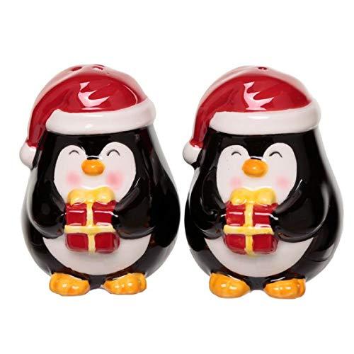 Puckator Salz- und Pfefferstreuer Weihnachten aus Keramik in Pinguinform