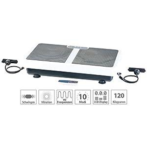 PEARL Vibrationplatte: Extrabreite Vibrationsplatte WBV-199.OE mit Expandern, 200 Watt (Vibration Plate)