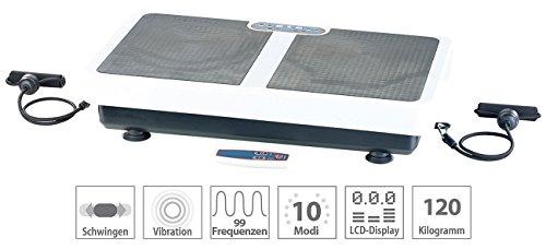 PEARL Vibrationplatte: Extrabreite Vibrationsplatte WBV-199.OE mit Expandern, 200 Watt (Vibrationsbrett)