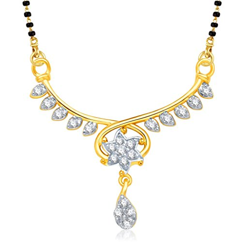 VK Jewels Divine Star Gold and Rhodium Plated Alloy Mangalsutra for Women made with Cubic Zirconia  –  MP1203G [VKMP1203G]