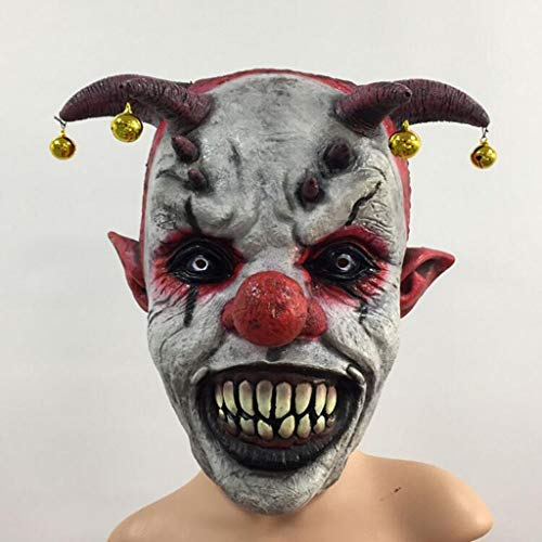 Fanfan Halloween Horror Bell Clown Kopfbedeckungen Halloween Latex Clown Maske Wraith Großhandel Universal