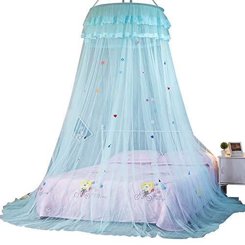 Moskitonetz Für Kinder, Wirksame Moskitonetze Prinzessin Moskitonetz Für Reise und Zuhause Kuppel zum Aufhängen zur Floor-Moskitonetz, 2,7M Lang, Geeignet Für EIN 1,5M Großes Bett Kinder Babyzimmer