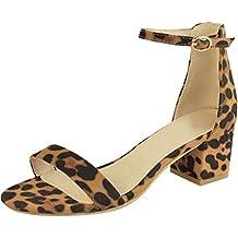 ... zapatos de mujer el corte ingles. Luckycat Sandalias Mujer Verano 2019 Tacon Medio Mujer Sexy Estampado de Leopardo Sandalias de Hebilla de