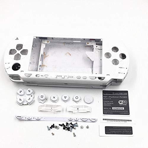 Gehäuse-Abdeckung für PSP 1000 Spielkonsole, komplettes Gehäuse weiß (Psp Und Gehäuse Abdeckungen)