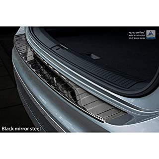 AutoStyle 2/51007 Black Mirror Stainless Steel Rear Bumper Protector Iincl. Allspace 2016-'Ribs', Chrome