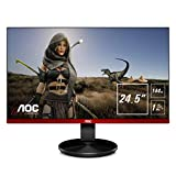 "AOC 24.5"" Framless Gaming Monitor, FHD 1920x1080, 1ms, 144 Hz, 96% sRGB, Low Input Lag, DisplayPort/HDMI/VGA, VESA"
