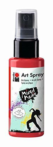 Marabu Arte spray es una pintura acrílica Lumin euse comprimidos en spray de 50ml. Después de secado, esta pintura resistente al agua. Uso con plantillasAplique su pochoir en una tela, una tarjeta, un embalaje regalo o una página de un álbum de álb...