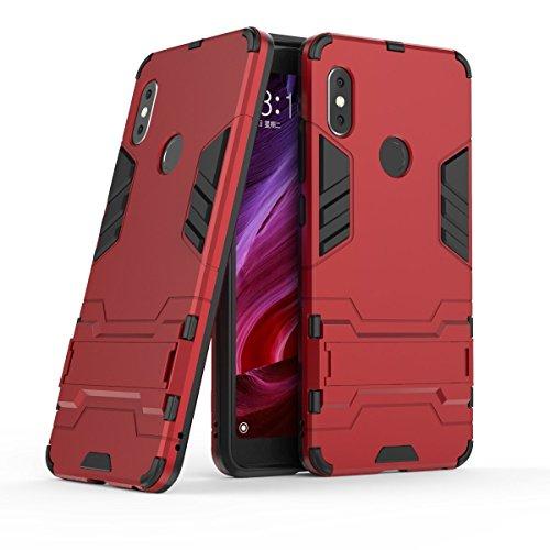 """Max Power Digital Funda para Xiaomi Redmi Note 5 y Xiaomi Redmi Note 5 Pro (5.99"""") con Soporte - Carcasa híbrida antigolpes Resistente (Xiaomi Redmi Note 5, Rojo)"""