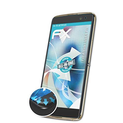 atFolix Schutzfolie passend für Alcatel Idol 4 Pro Folie, ultraklare & Flexible FX Bildschirmschutzfolie (3X)