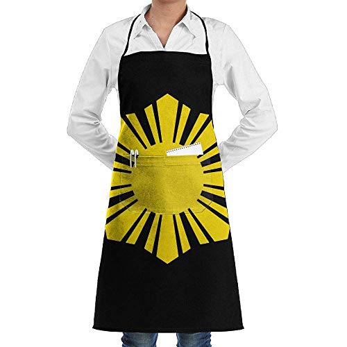 (Jxrodekz Unisex Long Aprons Flag of The Philippines Supermarket Overalls Sleeveless Anti-Fouling Overalls with Pocket)