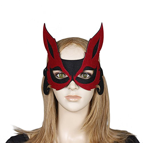 coxiang New Halloween Make Up Requisiten speziellen Festival bietet Erwachsene Frauen Kid Mädchen Retro Langohrige Fox Eye Face Maske Ball Fancy Masquerade ()