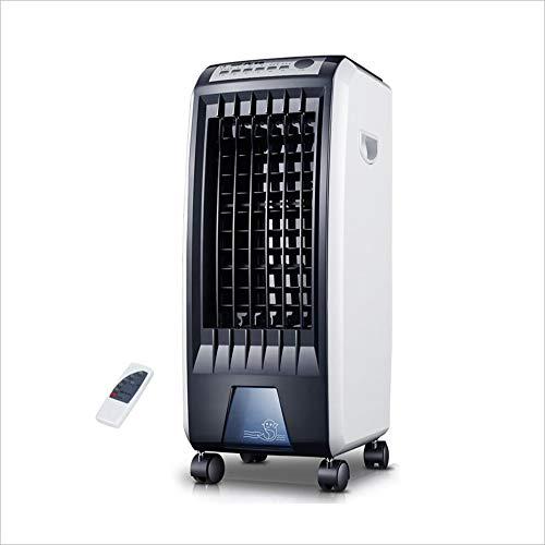 MG Haushalt Kleine Klimaanlage Lüfter, Schwarz-weiß 4-Rad-Mobilkühlung Fan -65W