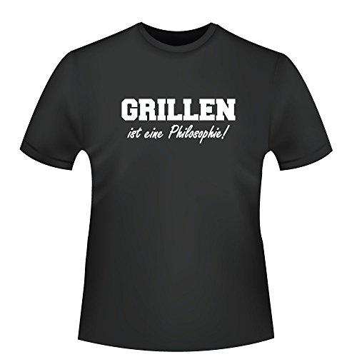 Grillen ist eine Philosophie!, Herren T-Shirt - Fairtrade - ID103701 Schwarz