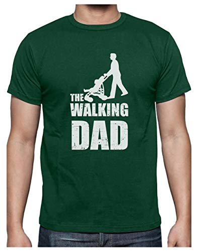 Green Turtle T-Shirts Camiseta para Hombre- The Walking Dad - Regalo Divertido para Papá Padre Primerizo Medium Verde Menta