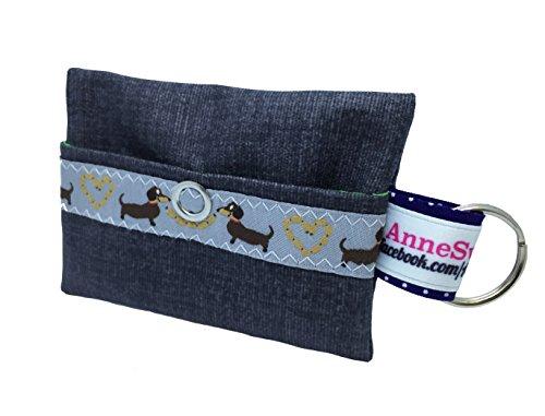 Kackbeutel schwarz Stern Hundekotbeutel Spender Hundetüte Leckerli Tasche aus Wachstuch Gassi gehen Waste Geschenk Hundebesitzer Poop Bag Chien (Taschen Waste Poop Hund)