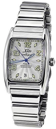 Xezo Incognito Herren Armbanduhr 10ATM wasserdicht Tonneau. 9015Miyota Automatik Uhrwerk. luxuriösen Finish. X-Large ARMBAND