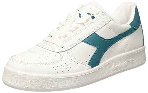 Diadora B. Elite, Sneaker a Collo Basso Unisex-Adulto Bianco (Bianco/Verde Blu-Capri)