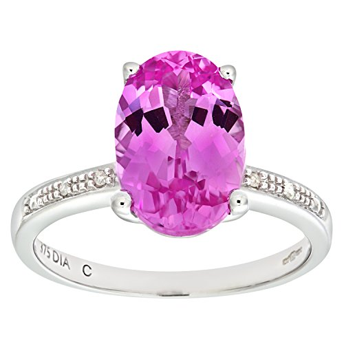 Naava Damen-Verlobungsring 9 K 375 Weißgold Saphir Diamant Gr. 48 (15.3) PR06303W-I