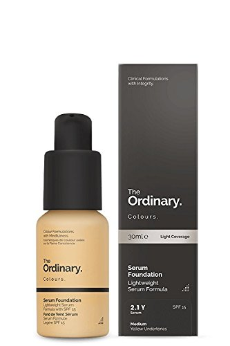 (2.1Y Medium Yellow Undertones) - The Ordinary Serum Foundation 30ml Lightweight Pigment Suspension System with Moderate Coverage (2.1Y Medium Yellow Undertones)