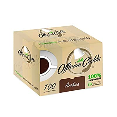 ODC Made in Italy 100 PODS of COMPOSTABLE Coffee Capsules Arabica Taste Compatible with NESPRESSO Coffee Machine. 10 Packs Containing 10 Pieces for Safeguarding Freshness! from OFFICINA DELLA CIALDA - L'EMOZIONE DENTRO AD UNA CIALDA
