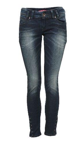 QS by s.Oliver Jeans  Droit Femme Bleu - Blau (58Z6)
