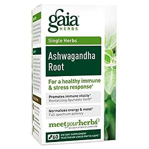 Gaia Herbs, Ashwagandha Wurzel Extrakt vegetarisch 60 Kapseln