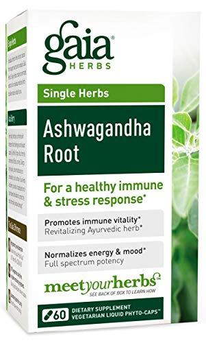 Gaia Herbs, Ashwagandha Wurzel Extrakt vegetarisch 60 Kapseln -
