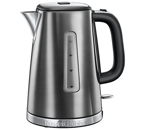 New Russell Hobbs Luna Grey Quiet Boil Jug Kettle 23211 Best Price and Cheapest