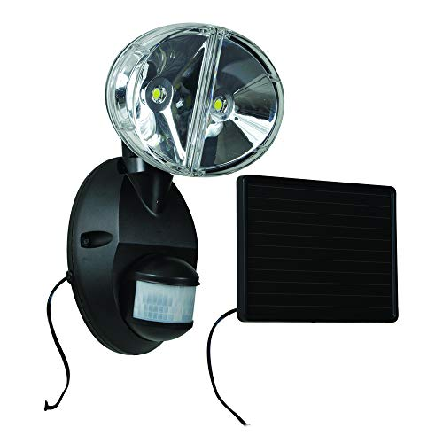 Cooper Lighting MSLED180W Motion Activated Solar Powered LED Floodlight. 180 Degrees up to 70-foot White