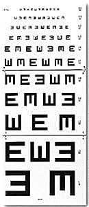 Echelle Optométrique Murale 5m Test Illettrés Armaignac
