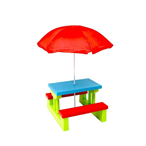 Descargar PDF Oypla Kids Childrens Picnic Bench Table Set With - Picnic table parasol