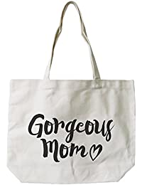 Gorgeous Mom Canvas Bag Mother'S Day Gifts Cute Grocery Bag Tote Bag For Mom By Love